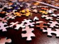 jigsaw puzzle in pieces