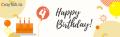 Crayfish 4th birthday banner