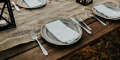 place setting at a table ready for dinner