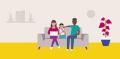Illustration of a family sitting together_  Spectrum 10k image  Credit: Spectrum 10k