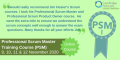 PSM training course banner