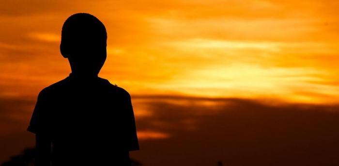 Boy at sunset  Credit: Artsy Solomon
