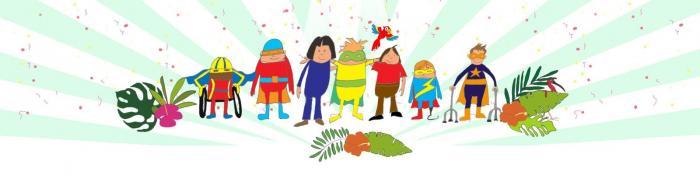 superheroes in cartoon form_ illustration