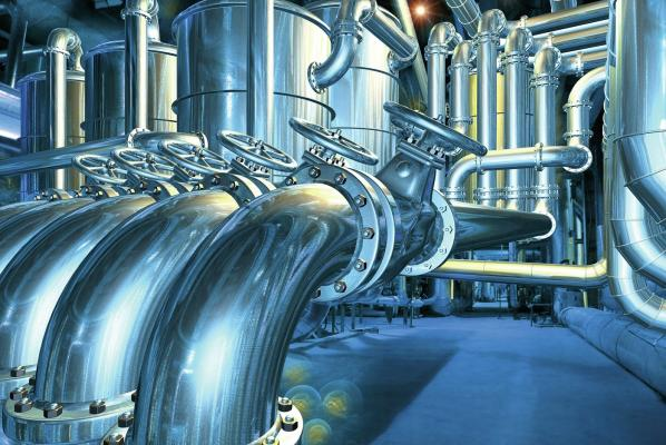 Big pipelilne in the abstract refinery_© Johnson Matthey