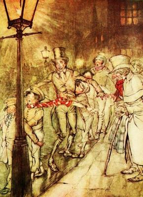 Vintage illustration of Dickens 'A Christmas Carol'